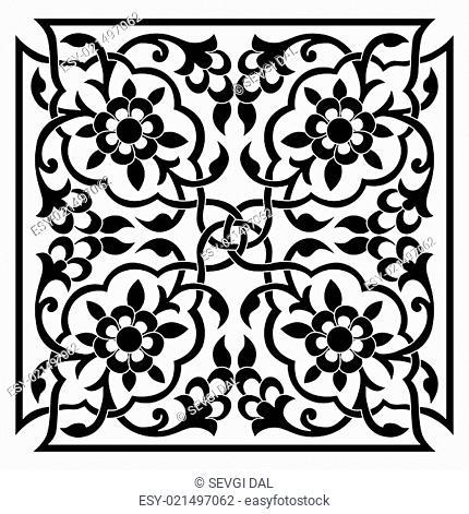 oriental ottoman design one