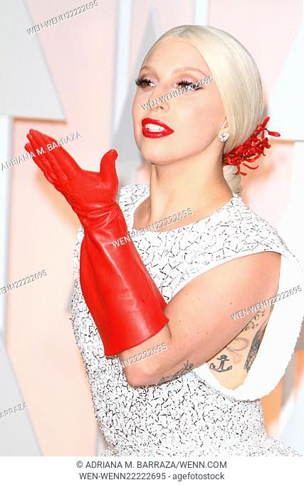 The 87th Annual Oscars held at Dolby Theatre - Red Carpet Arrivals Featuring: Lady Gaga Where: Los Angeles, California, United States When: 22 Feb 2015 Credit:...