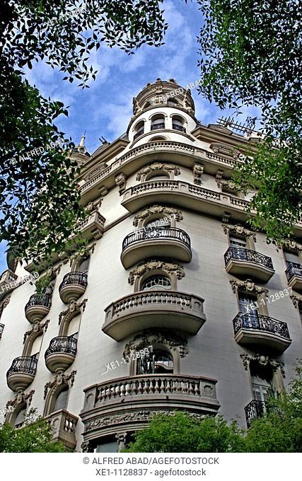 building on the Diagonal, Barcelona, Catalonia, Spain