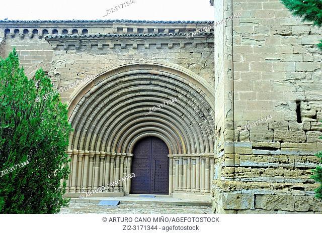 The Roman church of the convent of Saint Mary; 12th century. Villanueva de Sigena town, Huesca province, Spain