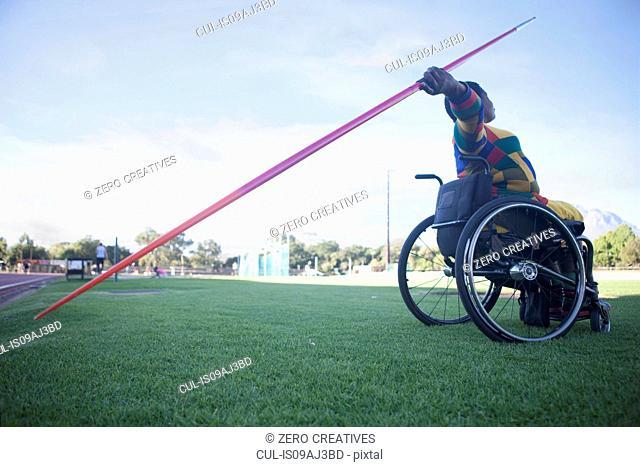 Wheelchair javelin thrower
