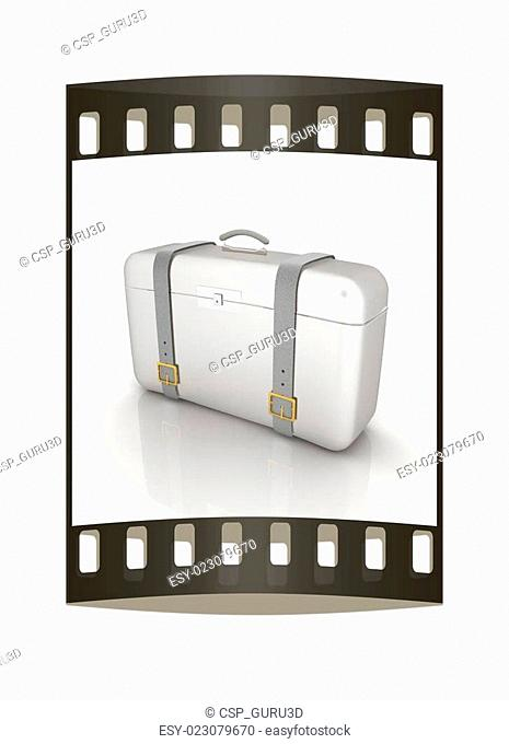 traveler's suitcase. The film strip