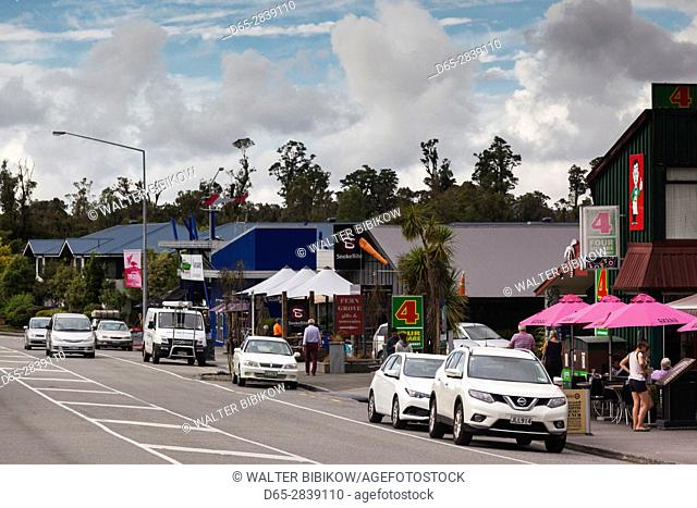 New Zealand, South Island, West Coast, Franz Josef, town view