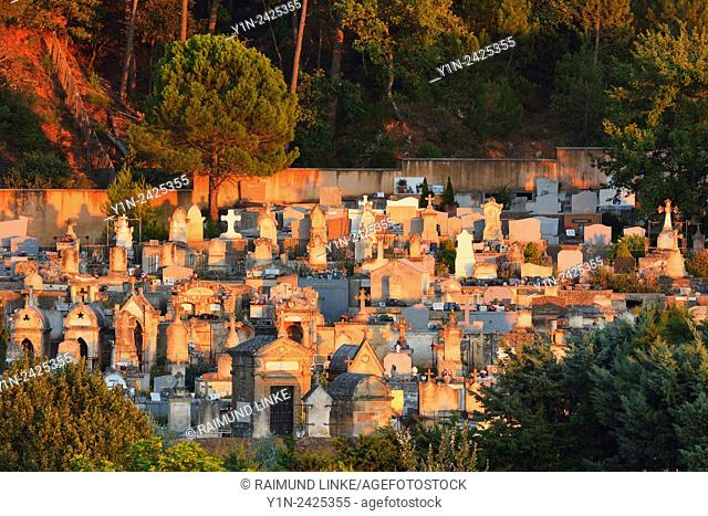 Cemetery at Evening, Roussillon, Provence, Vaucluse, France