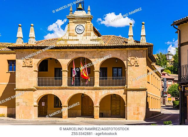 Town hall. Ayllon, Segovia, Castilla y leon, Spain, Europe