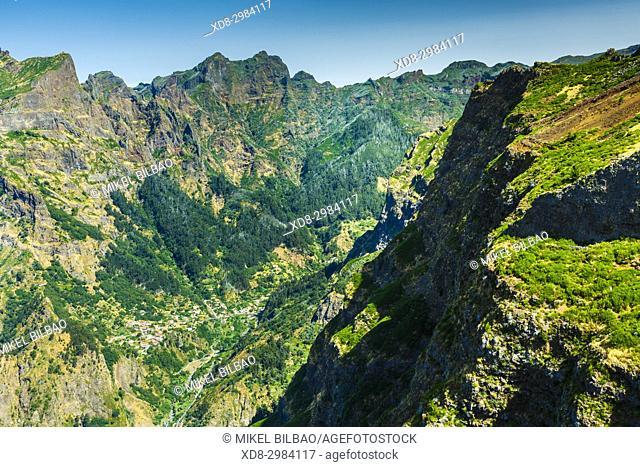 Curral das Freiras (from Paredao viewpoint). Madeira, Portugal, Europe