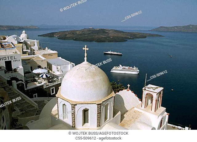 Greece, Santorini, Thera, Agios Ioannis church