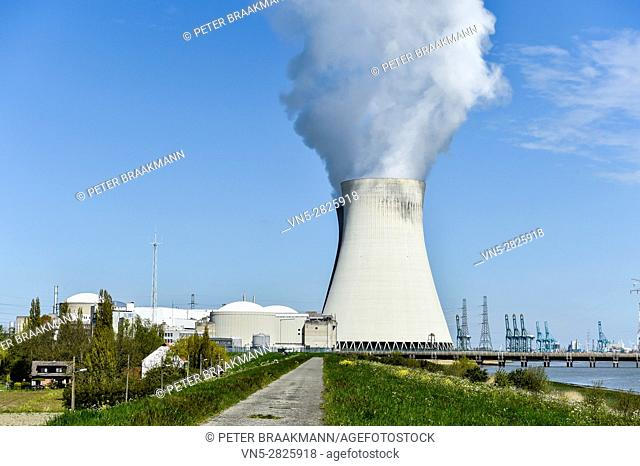 Cooling Towers nuclear power plant, Doel, Belgium