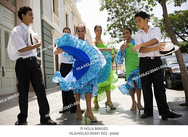 Children doing a traditional dance