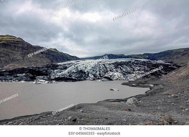 Solheimajokull is a glacier tounge of the Myrdalsjokull glacier in southern Iceland