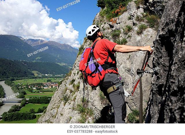 climbing up on rope way