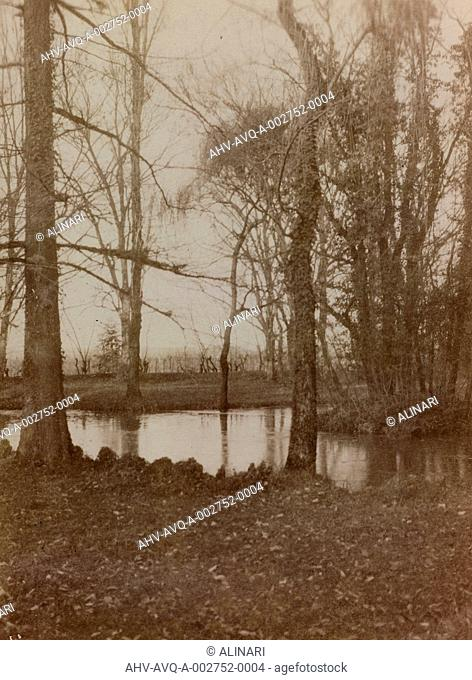 Album of the First World War in Friuli-Venezia Giulia: the pond in the park of Villa Brazza, Hospital of war n. 17, Soleschiano Manzano