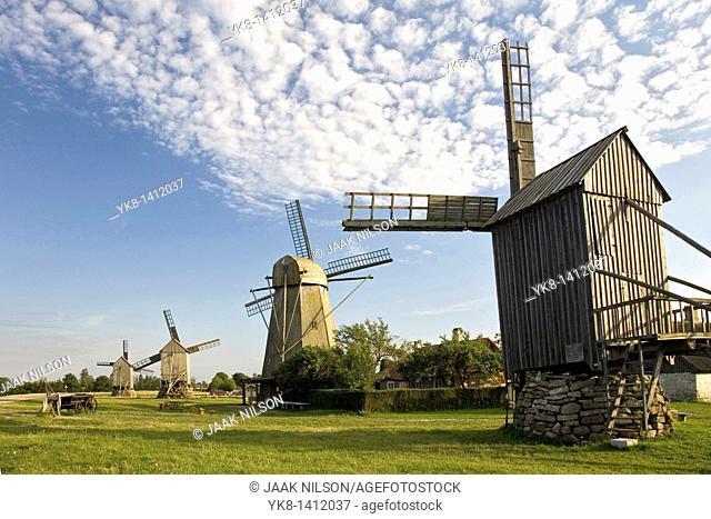 Angla Windmills, Saare County, Estonia