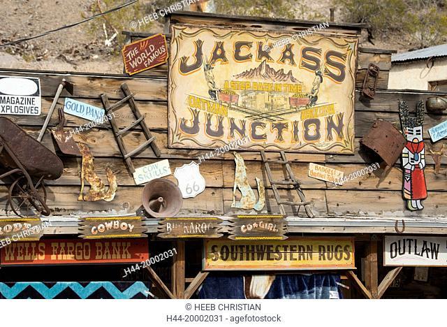 USA, Arizona, Oatman, Route 66, Jackass Junction, store