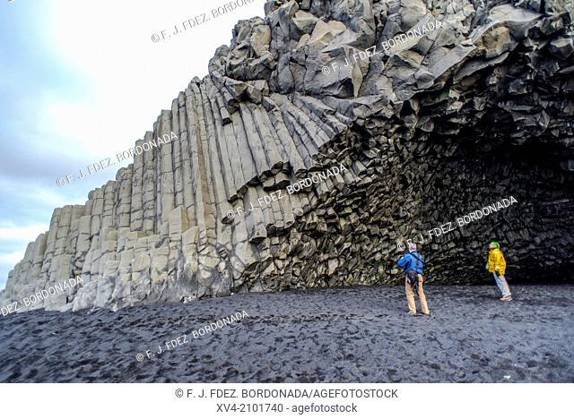 Basaltic coast. Vik, Iceland