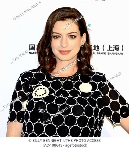 Anne Hathaway attends the LA Art Show 2016 at the LA Convention Center on January 27, 2016