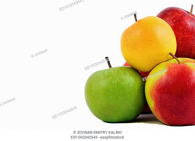 group of apples isolated