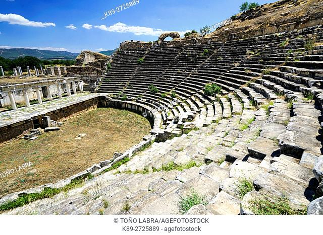 Aphrodisias Amphitheater. Ancient Greece. Asia Minor. Turkey