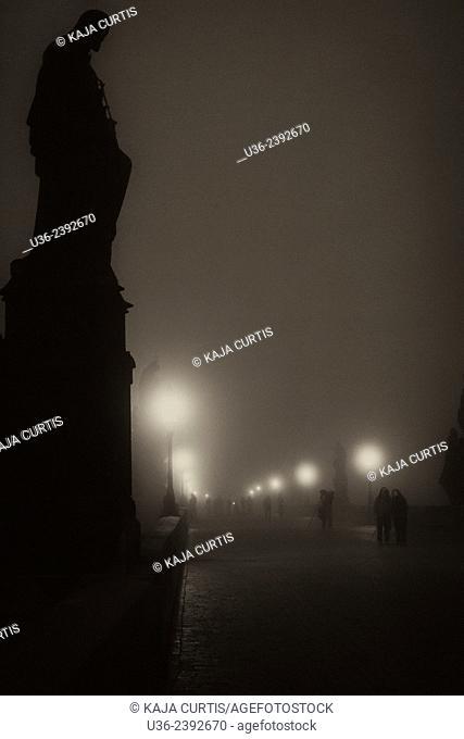 Charles Bridge in the Fog