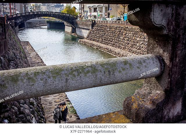 Ichiran Bridge, close Spectacles bridge, Nagasaki, Japan