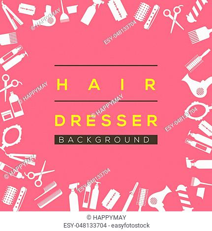 Hair Dresser Background Vector Illustration