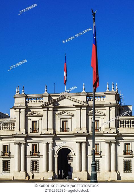 La Moneda Palace, Plaza de la Constitucion, Santiago, Chile
