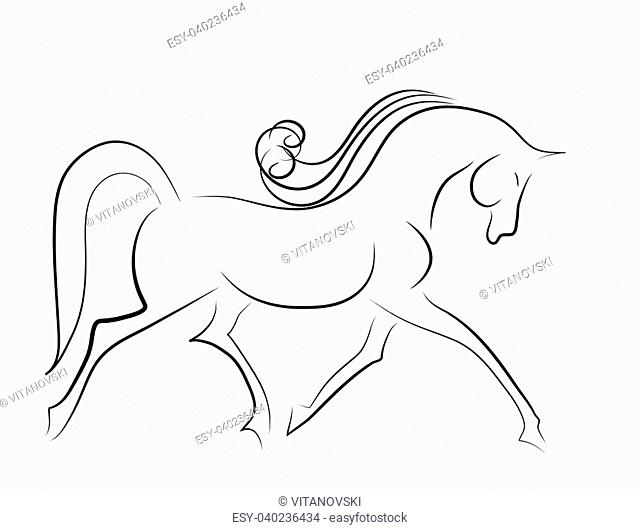 Elegant horse done in a minimal style