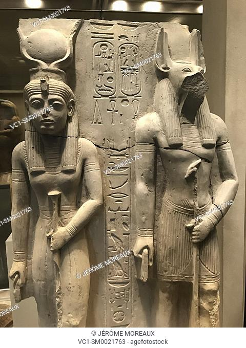 Isis and Wepwawet, dynasty 19, reign of Ramesses II, 1304-1237 BC, Egypt, Metropolitan Museum of Art. New York City, USA