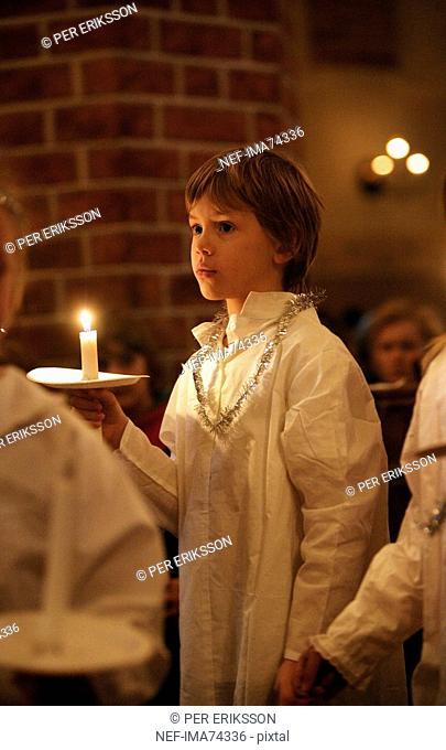 Boy attendant on Lucia, Sweden