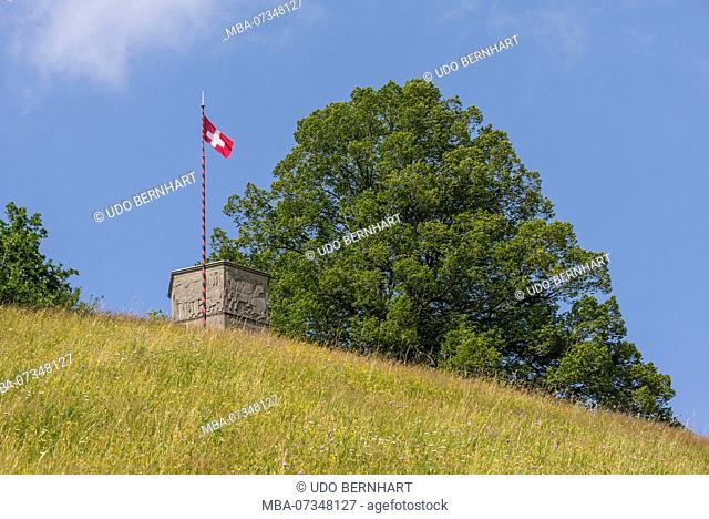 Hilly landscapes near Lueg Affoltern, Emmental, Berner Mittelland, Canton Bern, Switzerland