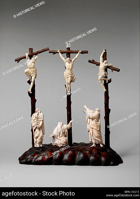 Crucifixion. Date: late 17th-early 18th century; Culture: possibly German or Netherlandish; Medium: Figures, ivory; Dimensions: a) H
