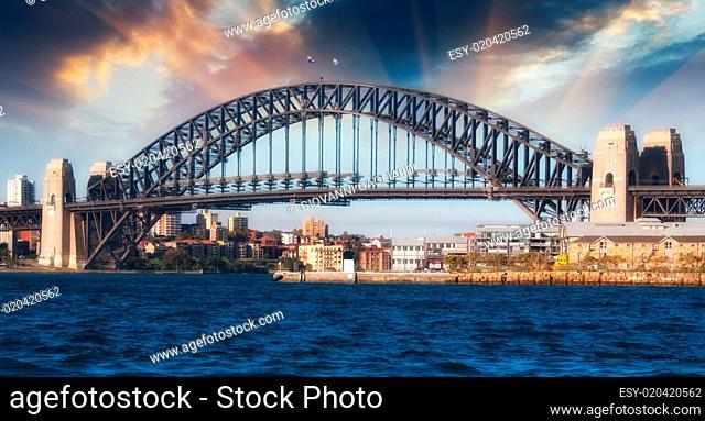 Dramatic Sky above Sydney Harbour Bridge