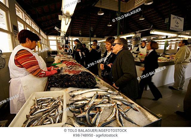 Market, Ciutadella. Minorca, Balearic Islands, Spain