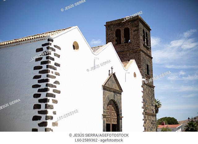 Church in La Oliva village, Fuerteventura, Canary Islands, Spain