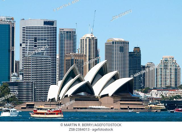 Sydney opera house and the central business district, new south wales, Australia
