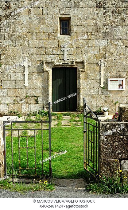 Santiago de Breixa church. Silleda, Pontevedra, Spain