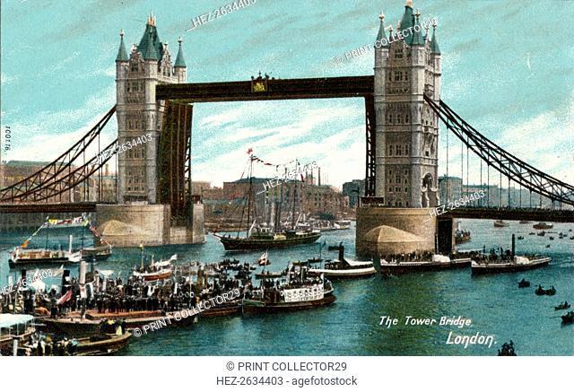 'The Tower Bridge, London', c1910. Artist: Unknown