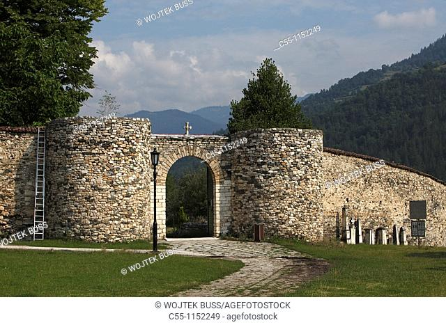 Serbia,Studenica Monastery,founded by Grand Prince Stefan Nemanja,late 12th century,Eastern Gate,Orthodox,christian,religious,exterior,outside,facade,colour
