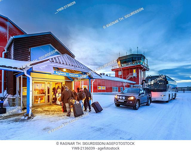 Kiruna Airport, Jukkasjarvi, Lapland, Sweden