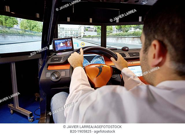 Driving Simulator Test  Validation of eco-driving systems, platooning systems road trains, driver behavior to different types of situations acoustic