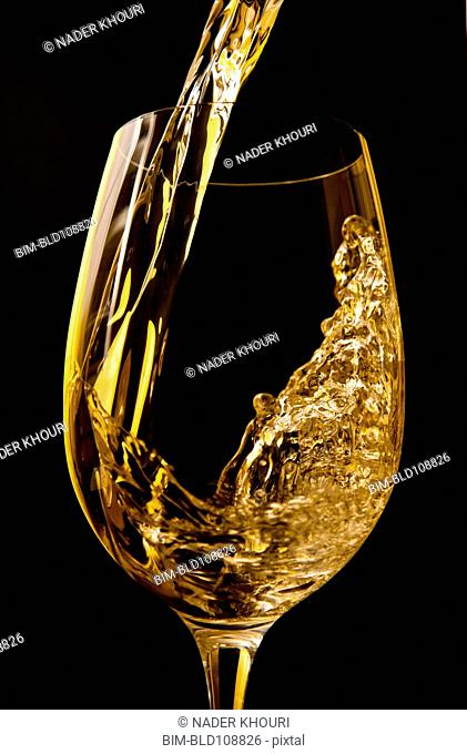 Wine pouring into wine glass