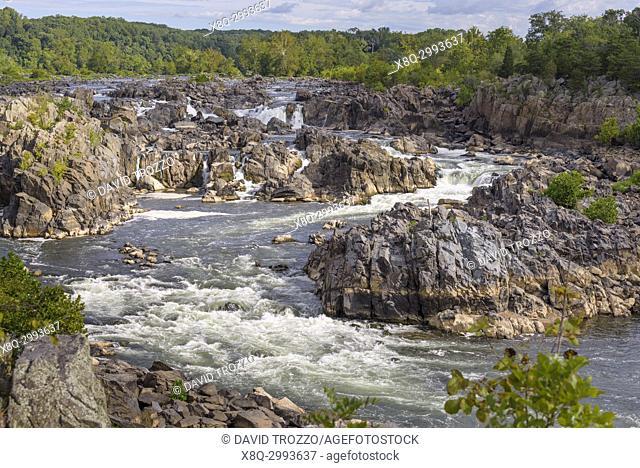 The Potomac River at Great Falls near Washington D. C. , USA