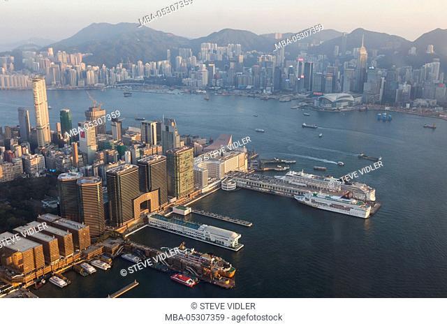 China, Hong Kong, Kowloon, Kowloon Skyline and Ocean Terminal