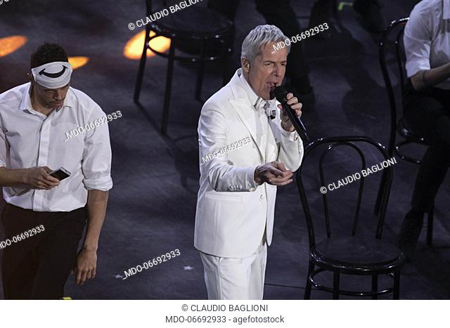 Italian host and singer Claudio Baglioni during the fifth and last evening of the 69th Sanremo Music Festival. Sanremo (Italy), February 9th, 2019