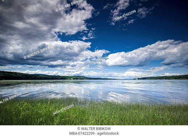 USA, New York, Hudson Valley, Saugerties, view of the Hudson River