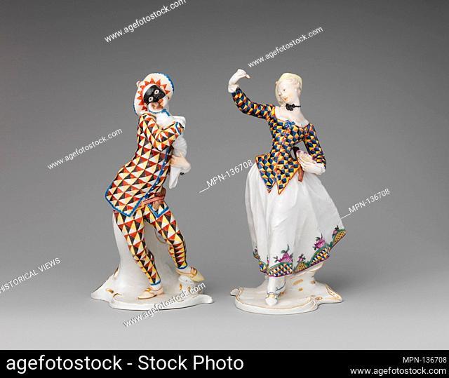 Harlequin. Factory: Nymphenburg Porcelain Manufactory; Modeler: Franz Anton Bustelli (Swiss, Locarno ca. 1720-1763 Munich); Date: ca