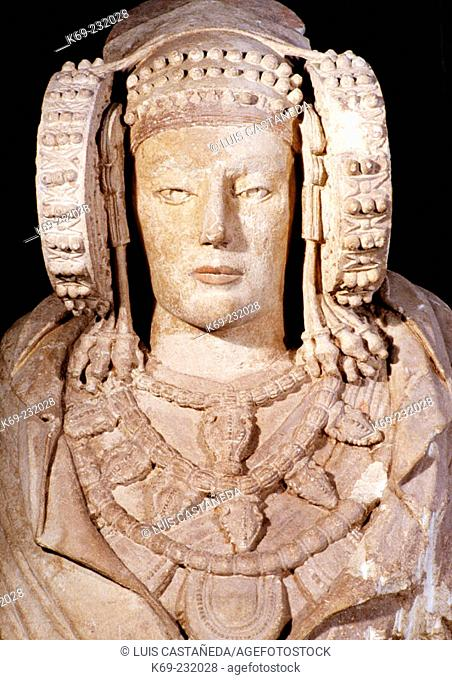 Dama de Elche ('Lady of Elche'), painted limestone bust, example of 5th-century-BC Iberian art