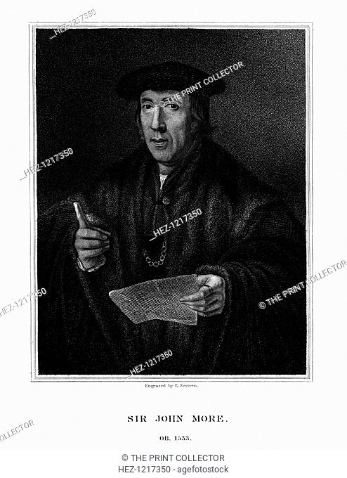 Sir John More, English lawyer, (1826). More, (died 1533) was the father of Thomas More