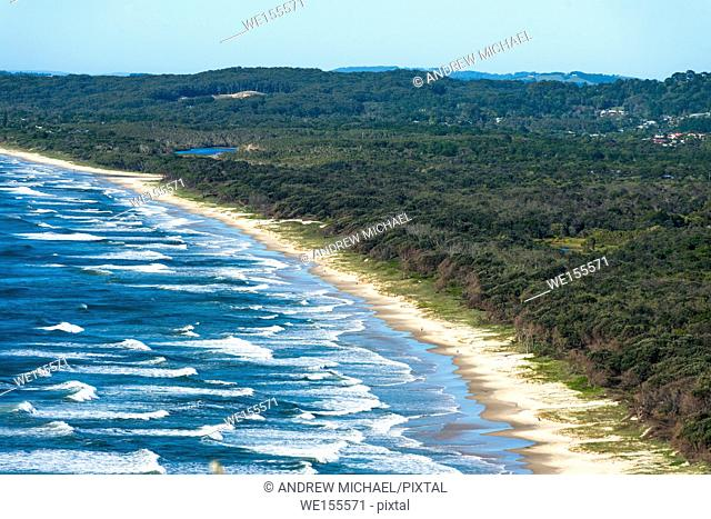 Byron Bay, New South Wales, Australia. Tallow Beach bordering Arakwal National Park