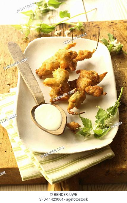Beer battered deadnettles